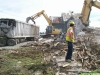 Demolition of houses to make room for the new rite aid