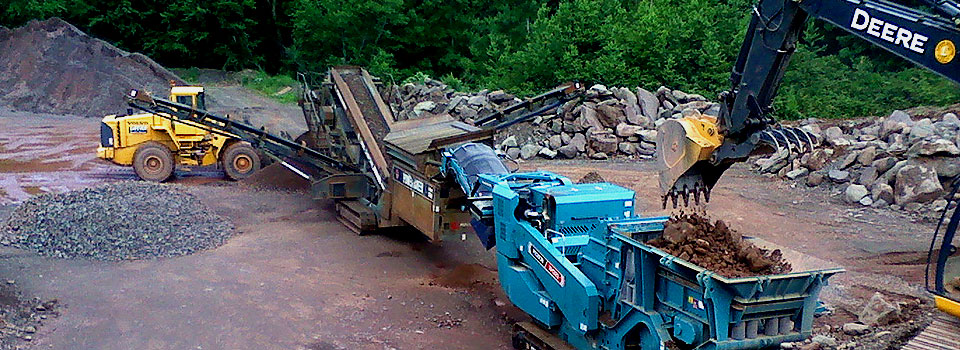 aggregate mining facilities in Bloomville, South Kortright, and Hobart, New York
