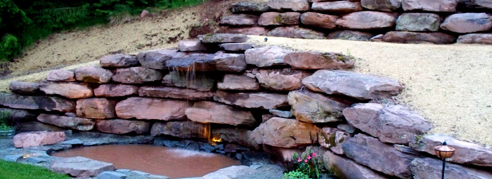 Rockscapes | Waterfalls LaFever Excavating, Inc